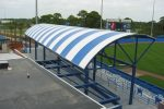 Hoover Canvas Convex Stadium Awning Port Saint Lucie Florida (2)