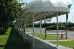 Hoover Canvas Elongated Bullnose Walkway Awning Palm Beach International Airport (1)