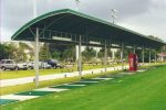 Hoover Canvas Half Round Golf Driving Range Awning Boca Raton Florida