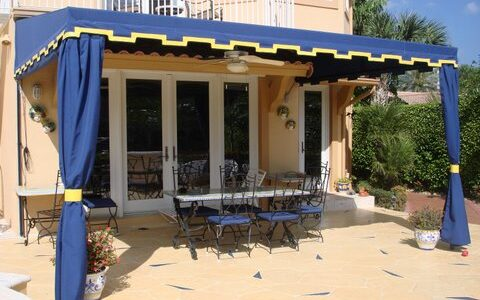 Hoover Canvas Projected Patio Shed Awning Jupiter Florida